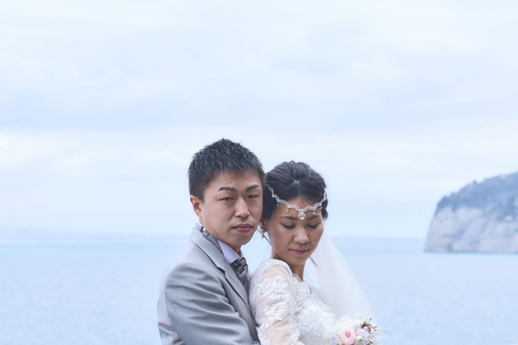 japanaise couple wedding in Amalfi coast